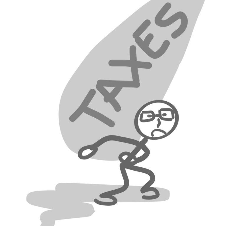 taxes et impts dessin