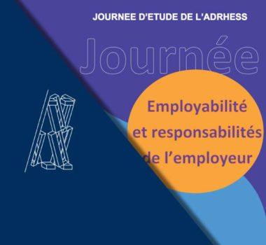 Employabilité et responsabilités de l'employeur - journée d'étude ADHRESS - 1er Février 2019
