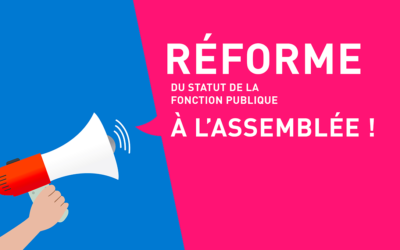 Réforme de la fonction publique - à l'assemblée