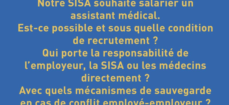 SISA : conditions de recrutement d'un assistant médical