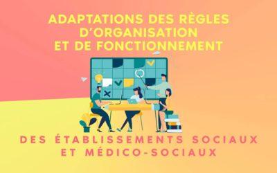 Ordonnance : adaptations des règles d'organisation et de fonctionnement des établissements sociaux et médico-sociaux
