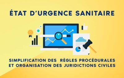 État d'urgence sanitaire : simplification des règles procédurales et organisation des juridictions civiles