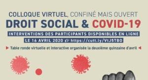 COLLOQUE VIRTUEL, CONFINÉ MAIS OUVERT DROIT SOCIAL & COVID-19