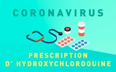 COVID-19 ET PRESCRIPTION D'HYDROXYCHLOROQUINE