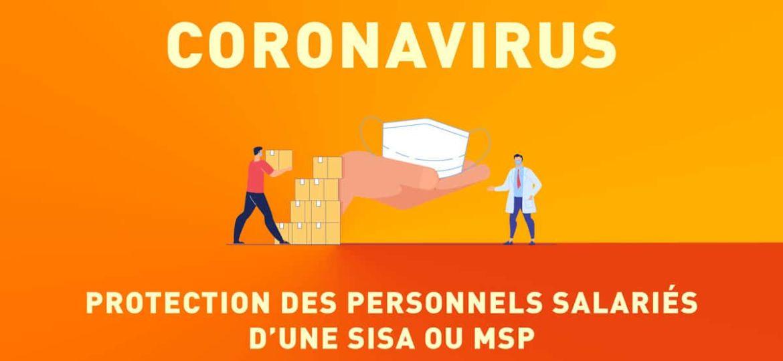 Coronavirus, protection du personnel d'une SISA ou MSP