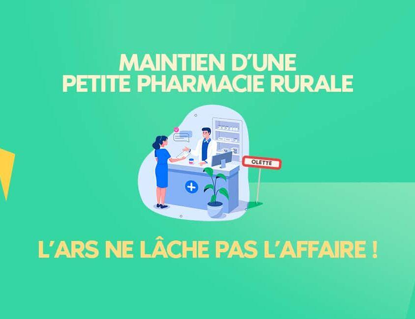 Ruralité et pharmacie : comment maintenir une pharmacie d'officine ?